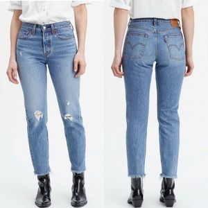 Levi's Wedgie Icon High Rise Distressed Jeans NWT